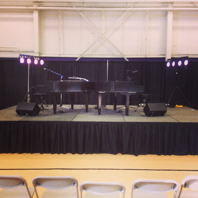 Our setup for Niagara University
