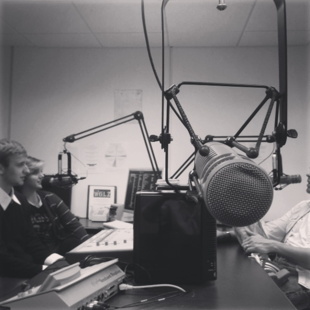 Brandon and I did a last minute interview for West Liberty's student-run radio station, WGLZ.