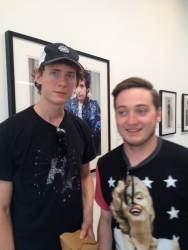 Kyran and I at a Dylan exhibit at the Taschen Art Gallery, Midtown Los Angeles.