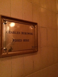 The legendary men's restroom at Coles, where a lot of beat writers allegedly hung out.
